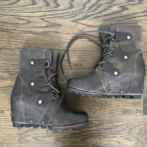 Sorel Waterproof Leather Ankle Boots